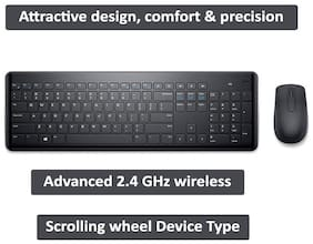 Dell Km117 Wireless Keyboard & Mouse Set ( Black )
