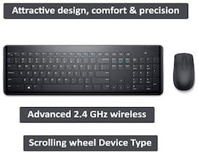 Dell Km117 Wireless Keyboard & Mouse Set ( Black )