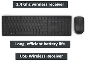 Dell Km636 Wireless Keyboard & Mouse Set ( Black )