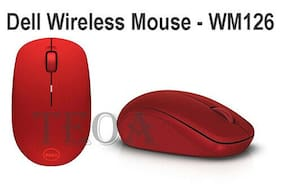 Dell Wireless Mouse-WM126 - RED - Brand New Sealed
