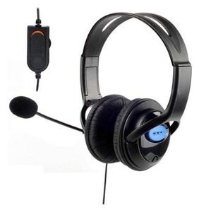 DELUXE HEADSET HEADPHONES with MICROPHONE VOLUME CONTROL for PS4 CONTROLLER
