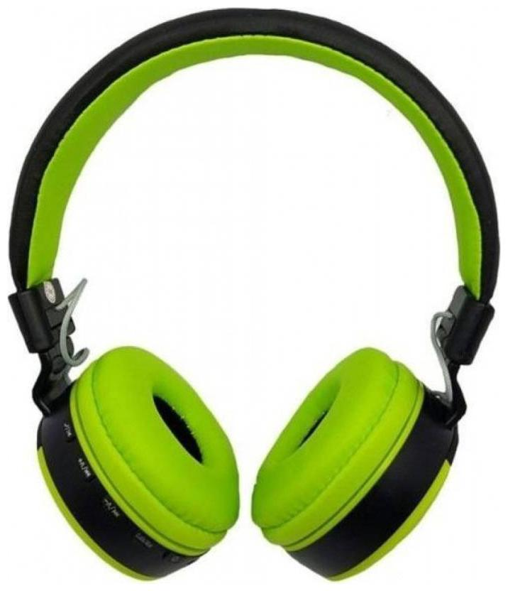 DHAN GRD MS 881 Bluetooth Headphone Over the Ear  GREEN