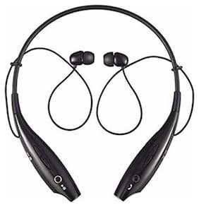 DOMAZO Hbs-730 Wireless Bluetooth Headset Sweatproof 4Uo412 In-Ear Bluetooth Headset ( Black )