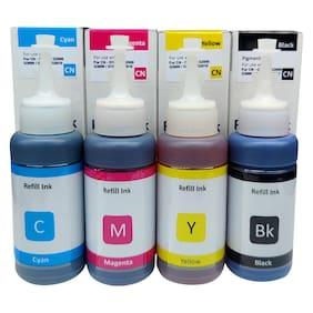 Dura-Jet GI 790 Refill Ink for Canon G2010, G2000, G1010, G1000, GM2070, G3010, G3000 Ink Tank Printer (C/M/Y/Bk - 70g x 4 ) Bottle - PA0756
