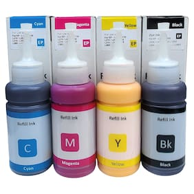 Dura-Jet Sublimation Ink for Epson L130, L360, L361, L210, L220, L380, L385, L1300, L3110, L4150 Printer Ink Bottle (C/M/Y/Bk - 70g x 4 ) Bottle - PA0876