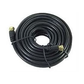 Eagle 20' FT RG59 Coaxial Cable Black Gold F-Male Each End 20 AWG 75 Ohm Video