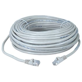 Eagle 25' FT CAT5E Patch Cord Cable White Snagless UTP RJ45 Connector Each End