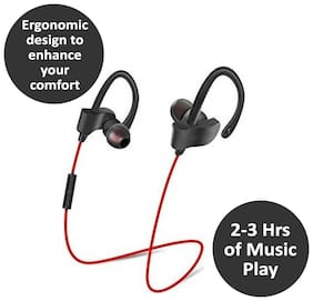 editrix In-Ear Bluetooth Headset ( Red )