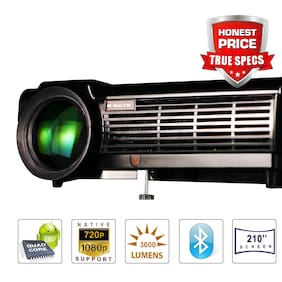 Egate P513 Android HD Ready (800p) (Full HD 1080p Support ), 3600 Lumens (450 ANSI) with 210 Inch Large Display LED Projector | VGA , AV , HDMI , USB Connectivity