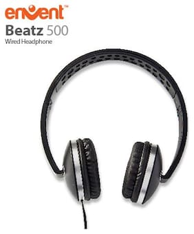 Envent Beatz 500 On-Ear Wired Headphone ( Black )