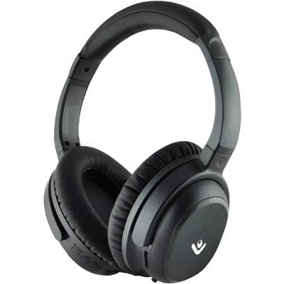 Envent Moksha Active noise cancellation Headset with Mic (Black Over the Ear)