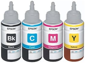 Epson 664 ink Colour Toner For Epson L Series Printers Set Of 4 ( Multi )