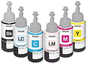 Epson Ink Bottles All Colours Set Of 6 For Epson L800 (Pack of 6)