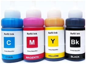 Epson Ink Bottles- Set of 4 (T6641-B,T6642-C,T6643-M,T6644-Y) 70 Ml Each