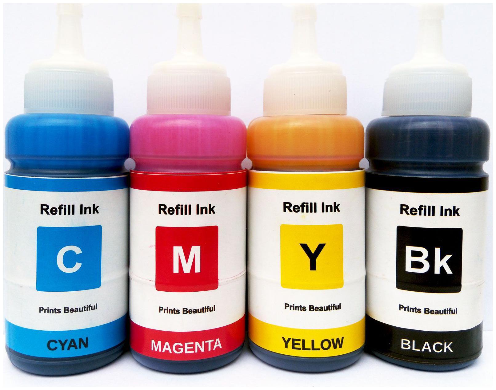 Epson L100,L200,L220,L300,L350,L355,L455,L500 Multicolors Ink