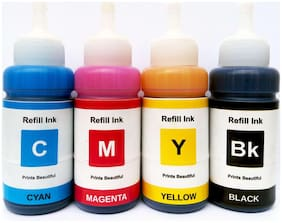 White Sky Epson Printer L565 Refill Ink 75ml x 4 CMYK Bottles - Compatible