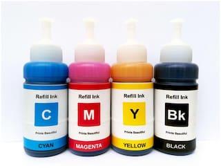 White Sky Epson Printer L655 Refill Ink 75ml x 4 CMYK Bottles - Compatible