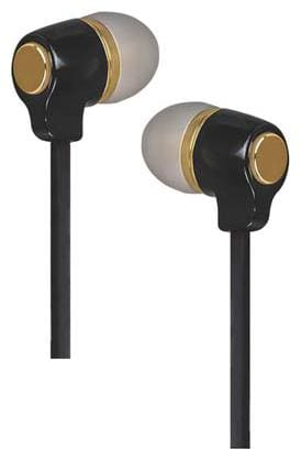 ERD HF-20 3.5mm Jack supported Flat Cable Earphones Colorful Combinations Headset Wired Headset with Mic  (Black, Gold, In the Ear)