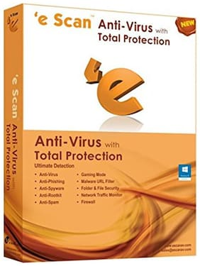 Escan Ant-iviurs With Total Protection Latest Version 1 Pc 1 Year