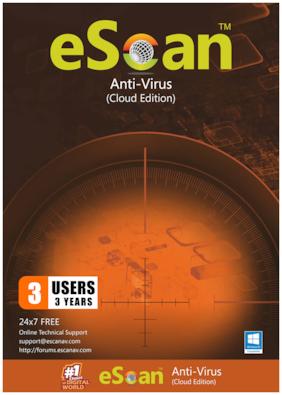 eScan Anti virus ( 3 pc , 3 years )