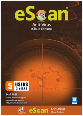 eScan Anti virus ( 5 pc , 3 years )
