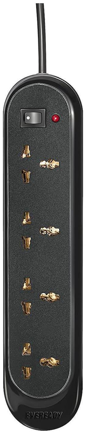 Eveready EVDSG01BLK Spike Buster 4 Socket (Black)