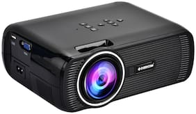 Everycom X7 LED Projector Full HD 1080P Supported Projector (Black)