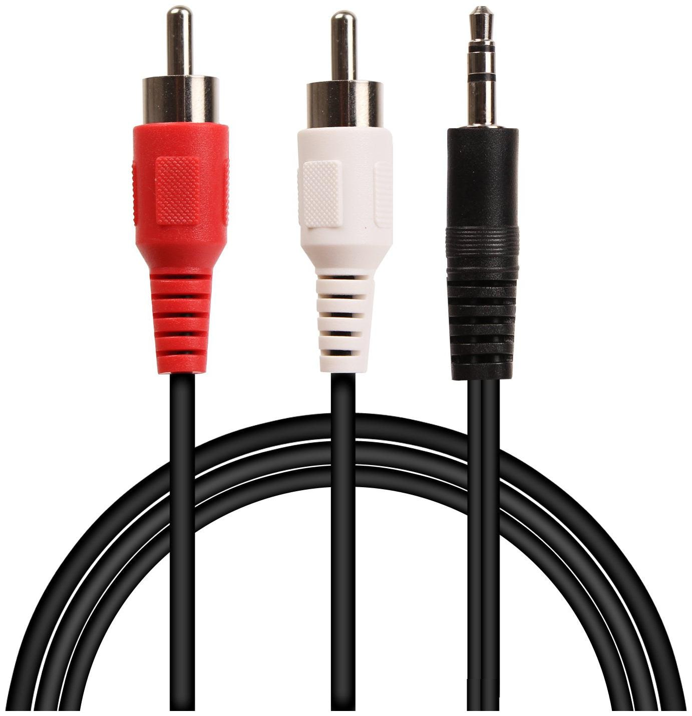Fedus 3.5 mm Jack Stereo Audio Male to 2 RCA Male Cable