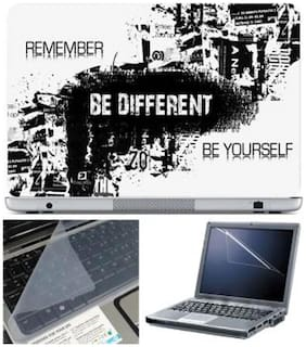 FineArts Be Different Laptop Skin For 15.6 Inch Laptop With Key Guard & Screen Protector