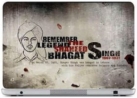 FineArts Bhagat Singh Laptop Skin For 15.6 inch Laptop