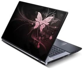 FineArts Butterfly Laptop Skin For 15.6 inch Laptop With Heart Laptop Skin