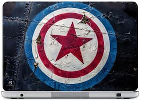 FineArts Captain America Logo Laptop Skin For 15.6 Inch Laptop
