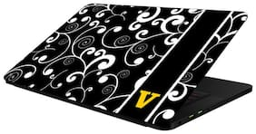 FineArts Combo of Alphabet Design - LS5267 Laptop Skin and Mouse Pad