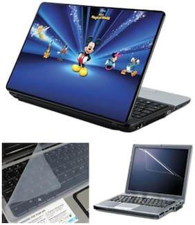 FineArts Disney Characters Dark Laptop skin For 15.6 inch Laptop Screen Guard & keyboard Protector