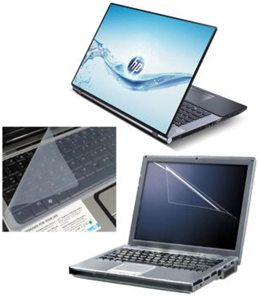 FineArts HP Water Laptop Skin For 15.6 inch Laptop With Screen   Keyboard Protector Laptop Skin