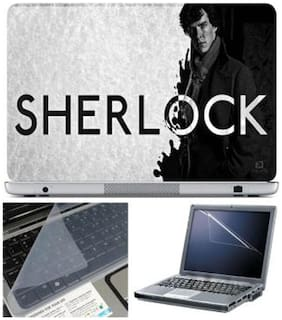 FineArts Sherlock Laptop Skin For 15.6 Inch Laptop With Key Guard & Screen Protector