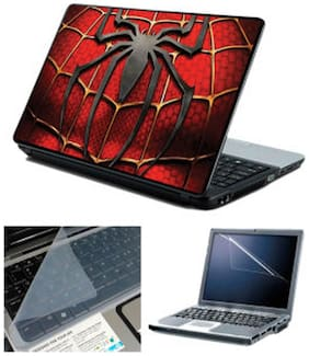 FineArts Spiderman Chest Laptop skin For 15.6 Inch Laptop Screen Guard & keyboard Protector