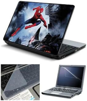 FineArts Spiderman Jump Laptop Skin For 15.6 Inch Laptop