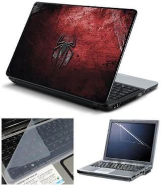 FineArts Spider Back Laptop skin For 15.6 inch Laptop Screen Guard & keyboard Protector