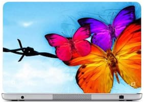 FineArts Three Butterflies Laptop Skin For 15.6 Inch Laptop