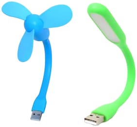 Flexible USB Powered FAN and LED Light for Laptop, Smart Phones