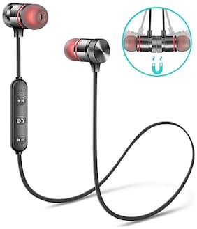 flozum Bluetooth Headphone with Noise Isolation Hands-Free In-Ear Bluetooth Headset ( Black )