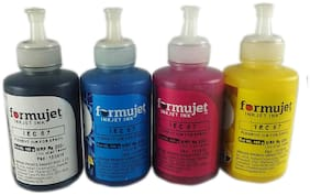 Formujet Pigment Ink for Epson IEC 67 100g4 Color (Cyan, Yellow, Magenta, Black) for for Epson B300 / B500, B310 / 510, Work Force 4011/4511, Work Force 7011/7511 / M100 / M200 / IEC 67
