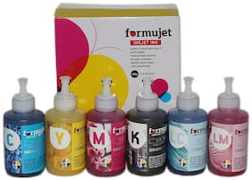 Formujet Sublimation Ink DTP SUB for Epson Printer L800, L1800, L805,  for Heat Transfer Printing on Ceramics and Clothes (6 Color X 100 g CYMK LC LM)