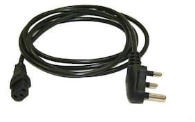 Frndzmart 3 Pin Computer Power Cord Cable For Computer Pc Smps 1.5 m Black (Pack Of 2 Power Cord )