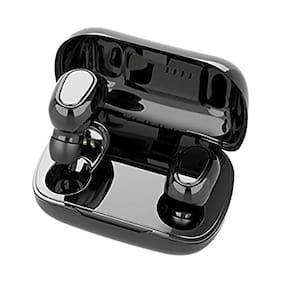 GadgetX Tws L21 Bluetooth Earbuds True Wireless Bluetooth Headset ( Black )