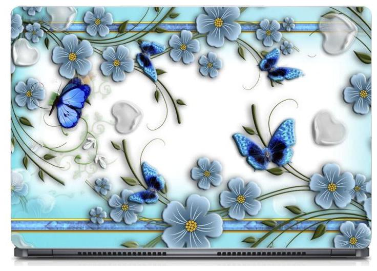 Gallery 83    Butterfly With Flower Abstract Laptop Decal, laptop skin sticker 15.6 inch  15 x 10  Inch g83_skin_0542new
