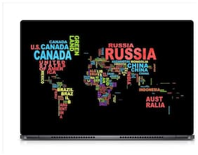 Gallery 83  - Country Text World Map Laptop Decal, laptop skin sticker 15.6 inch (15 x 10) Inch g83_skin_0813new