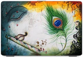 Gallery 83  - peacock feather krishna Exclusive High Quality Laptop Decal, laptop skin sticker 15.6 inch (15 x 10) Inch g83_skin_1426new