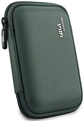 Gizga Essentials External Hard Drive Case for 2.5-inch Hard Drive - Double Padded (Grey)